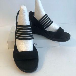 Skechers- Black Wedge Sandal - Size 7.5
